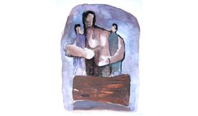 Pintura de Ramón Lapayese Maternidad