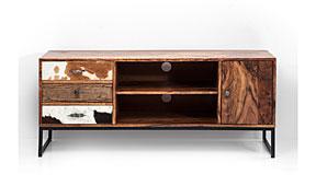 Mueble TV 1 puerta 3 cajones Rodeo - Muebles de Tv Vintage - Muebles Vintage