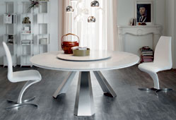 Mesa de comedor redonda moderna Eliot Cattelan