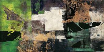 Cuadro canvas abstracto emerald