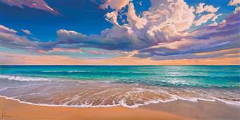 Cuadro canvas paisaje onda oceano