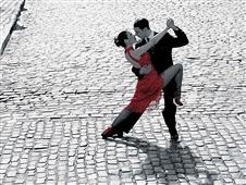 Cuadro canvas couple dancing tango