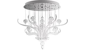 Lámpara de techo Spirito di Venezia transparente grande