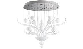 Lámpara de techo Spirito di Venezia pequeña blanca