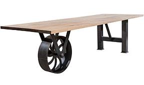 Mesa de comedor madera Wheelbarrow
