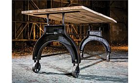 Mesa de comedor madera industrial Lek