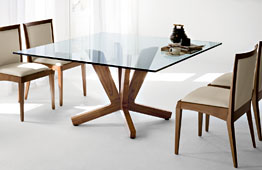 Mesa de comedor cuadrada moderna Goblin Cattelan