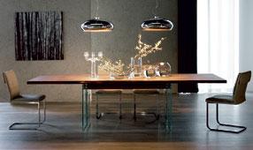 Mesa de comedor extensible moderna Ikon