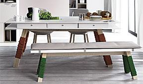 Mesa vox 3 cajones y hueco central - Mesas de Despacho y Escritorio de Diseño - Muebles de Diseño
