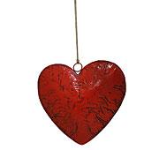 Corazón rojo vintage