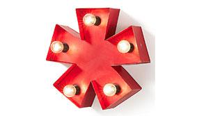 Aplique de pared asterisco - Apliques y Plafones - Iluminación