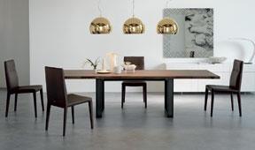 Mesa de comedor extensible moderna Sigma