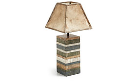 Lampara de madera vintage pachment - Lámparas de Sobremesa - Iluminación