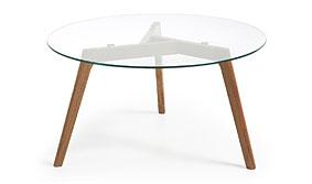Mesa de centro de cristal Tailym - Mesas de Centro de Diseño - Muebles de Diseño