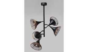 Lámpara de techo vintage Rattan