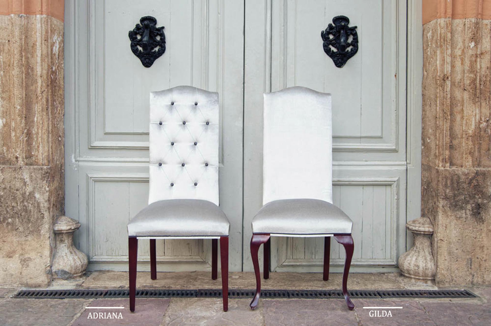 Silla tapizada adriana y gilda en cosas de arquitectoscosas de arquitectos - Sillas y sillones clasicos ...