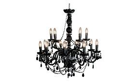 Lámpara techo Gioiello cristal negro