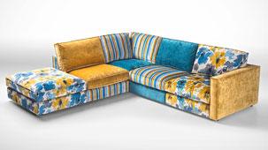Sofa 3 chaise longue vintage Houston