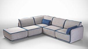 Sofa 3 chaise longue moderno Richmond