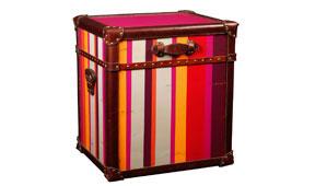 Baúl con Rayas de color y Cuero - Baules Clásicos - Muebles Clásicos