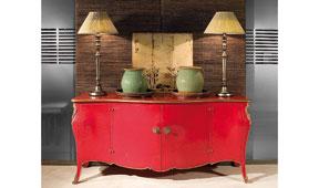 Aparador Vintage Regence Rojo