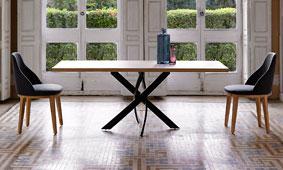 Mesa comedor rectangular Moderna Xenon