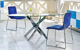 Mesa de comedor ovalada Moderna Xenon