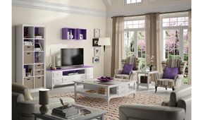 Salón vintage provenzal lila Fontana