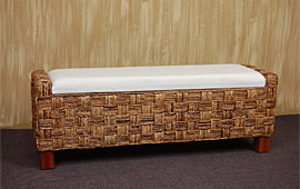 Pie de cama tapa abaca