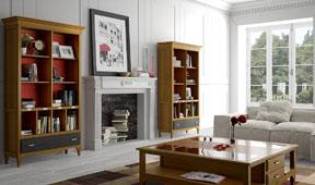 Salón vintage provenzal coral Fontana