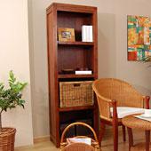 Librería estrecha colonial Timo - Librerías Coloniales y Rústicas - Muebles Coloniales y Muebles Rústicos