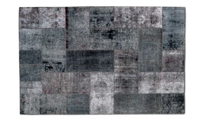 Alfombra  patchwork gris Cecile