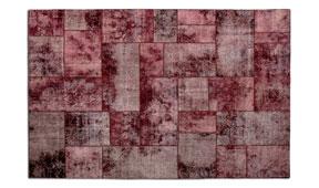 Alfombra patchwork burdeos René
