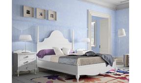 Dormitorio vintage provenzal tosca Volga