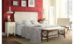 Dormitorio vintage provenzal miel Decco