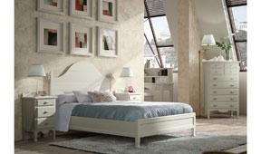 Dormitorio provenzal blanco Decco