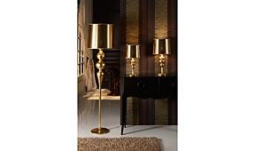Sobremesa pequeña oro Lena - Lámparas de Sobremesa - Iluminación