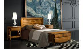 Dormitorio provenzal miel Mediterráneo
