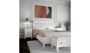 Dormitorio provenzal verde agua Basilea