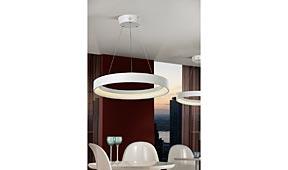 Lámpara techo colgante Cronos GDE blanco