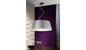 Lámpara de techo colgante Zone plata