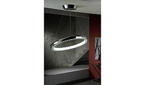 Lámpara techo colgante LED Star blanca