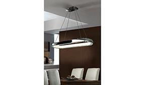 Lámpara colgante LED Star Cromo oval