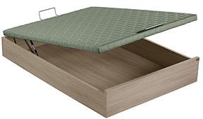 Canapé abatible madera tapa verde