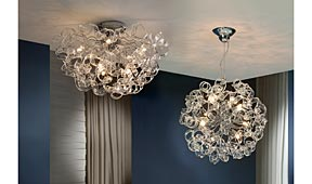 Lámpara colgante transparente Nova - Apliques y Plafones - Iluminación