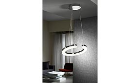 Lámpara de techo colgante LED Cromo