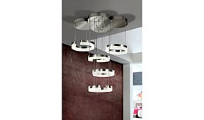 Lámpara de techo LED Tulipas