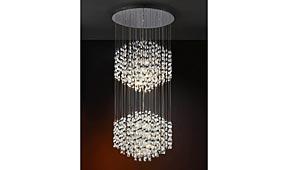 Lámpara techo colgante 2 bolas Espiral