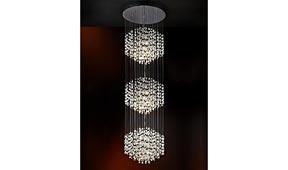 Lámpara techo colgante 3 bolas Espiral