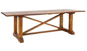 Mesa de comedor fija vintage Palau - Mesas de Comedor Coloniales y Rústicas - Muebles Coloniales y Muebles Rústicos
